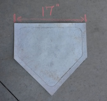 17 inches of home plate