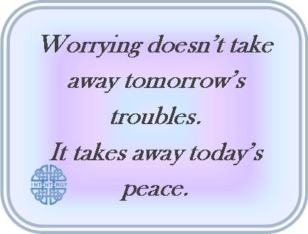 Worry about today's peace